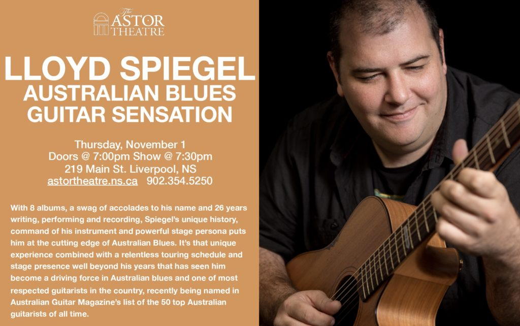 Lloyd Spiegel - Australian Blues Guitar Sensation @ Astor Theatre
