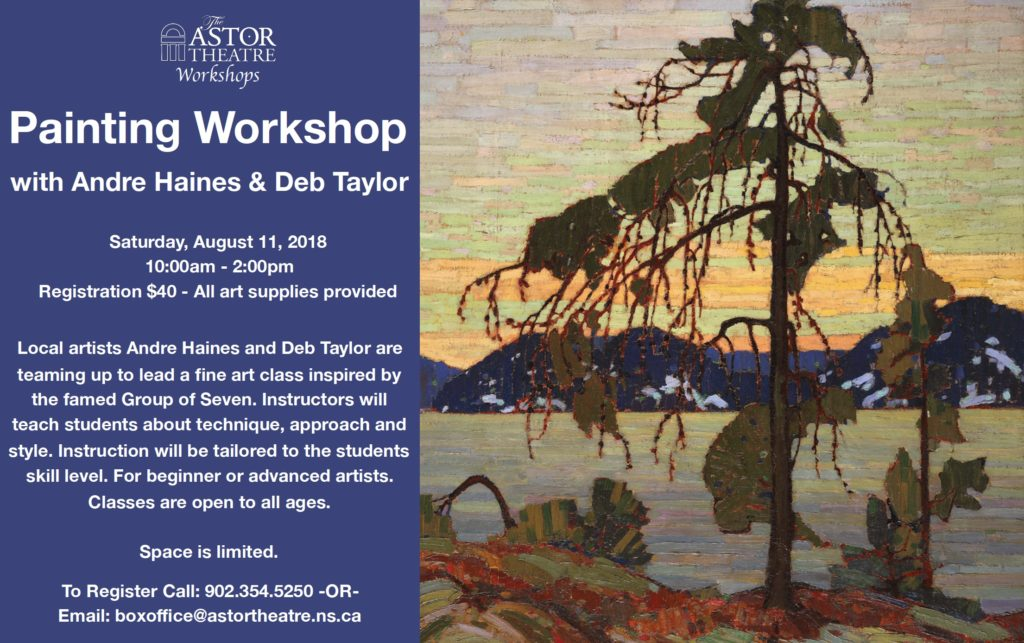 Painting Workshop with Andre Haines & Deb Taylor @ Astor Theatre