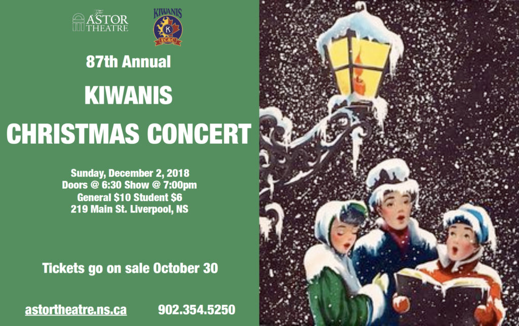 87th Annual Kiwanis Christmas Concert - Tickets on Sale Oct.30 @ Astor Theatre