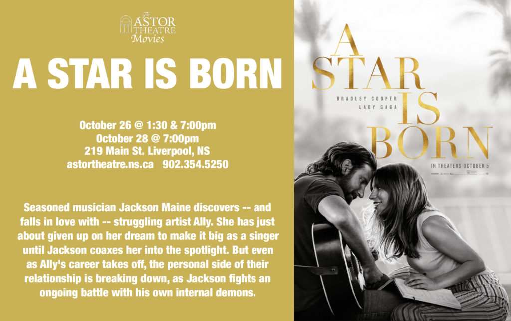 A Star Is Born - Oct.28 @ 7pm @ Astor Theatre