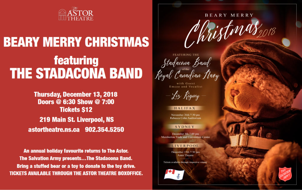 A Beary Merry Christmas Concert feat. The Stadacona Band @7pm @ Astor Theatre