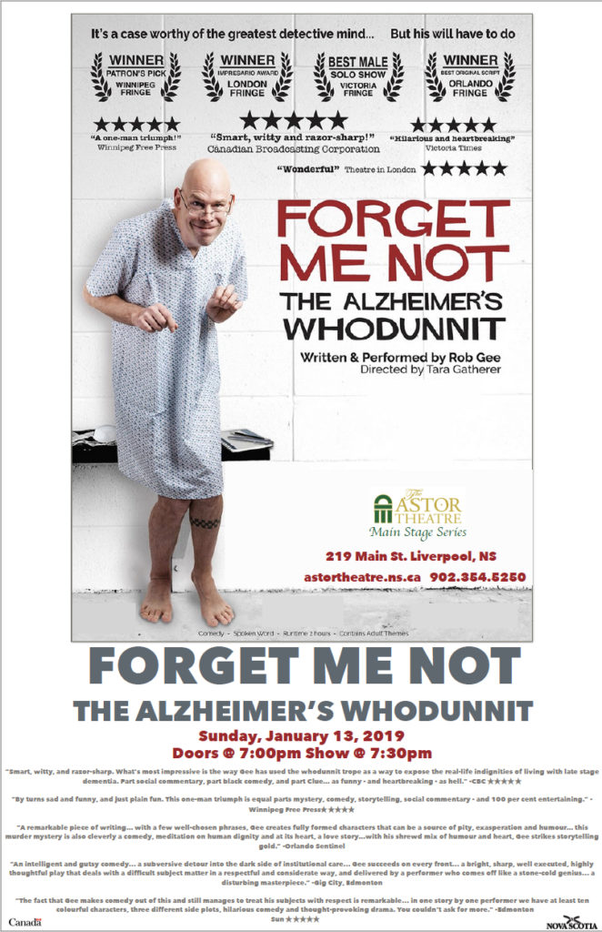 Forget Me Not - The Alzheimer's Whodunnit - Main Stage Series @ Astor Theatre