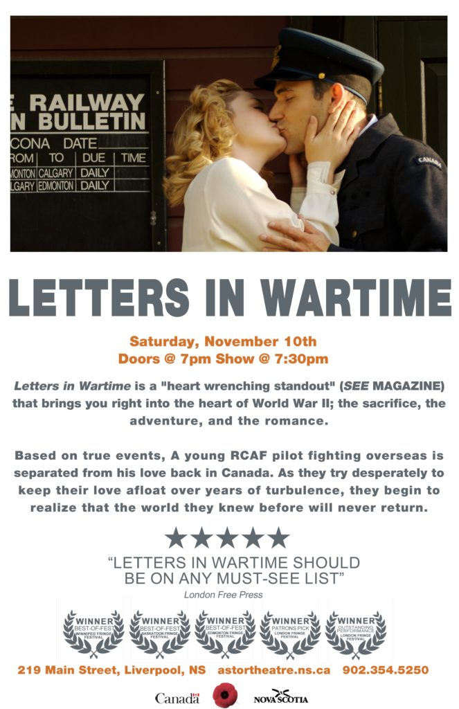 Letters in Wartime - Main Stage Series @ Astor Theatre