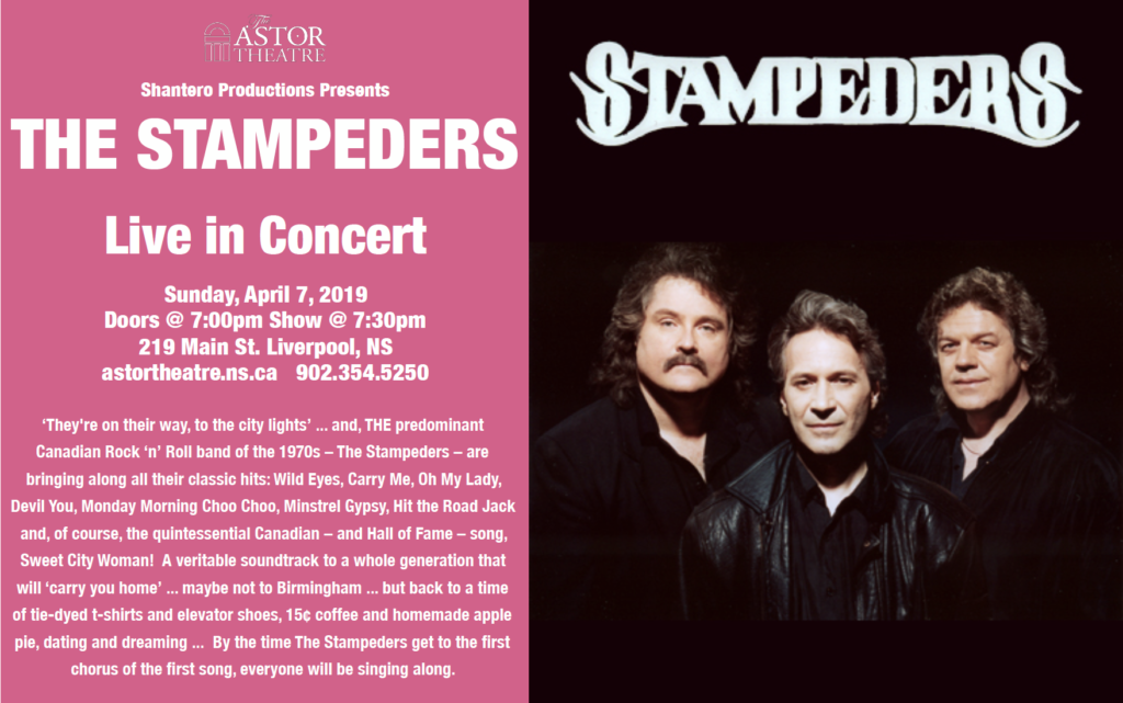 The Stampeders - Tickets on sale Nov.30 @ Astor Theatre