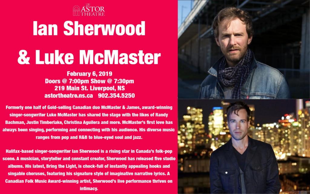 Ian Sherwood & Luke McMaster - Double Bill @ Astor Theatre