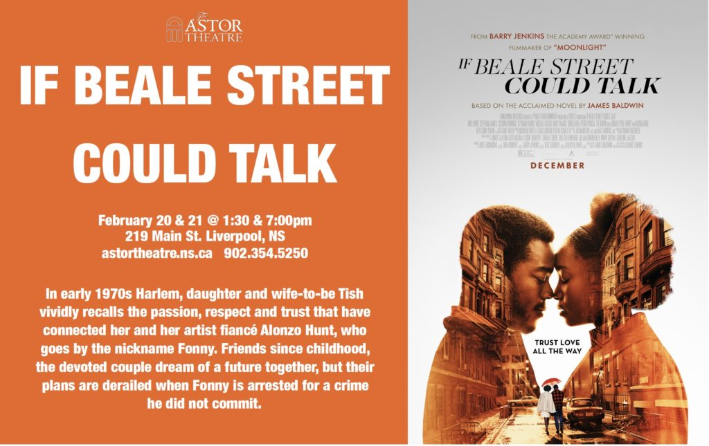 If Beale Street Could Talk - February 20 & 21 @ 1:30 & 7:00pm @ Astor Theatre