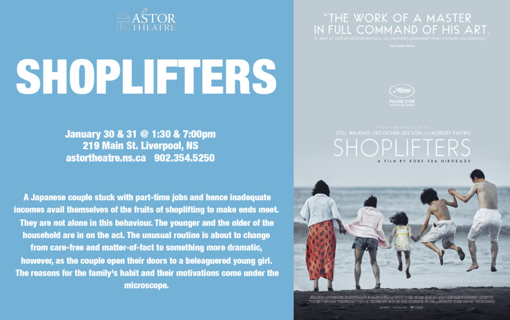 Shoplifters - Jan 30 & 31 @ 1:30 & 7pm @ Astor Theatre