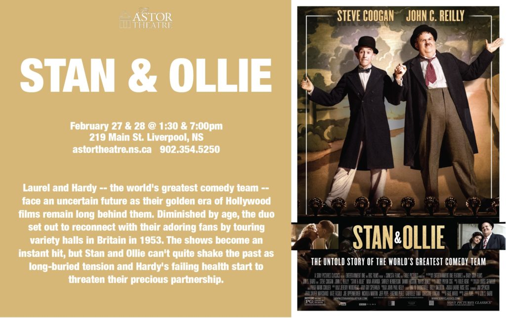 Stan & Ollie - February 27 & 28 @ 1:30 & 7:00pm @ Astor Theatre