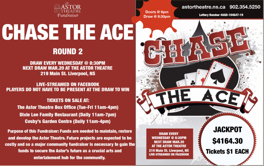 Chase The Ace Fundraiser - Round 2 @ Astor Theatre