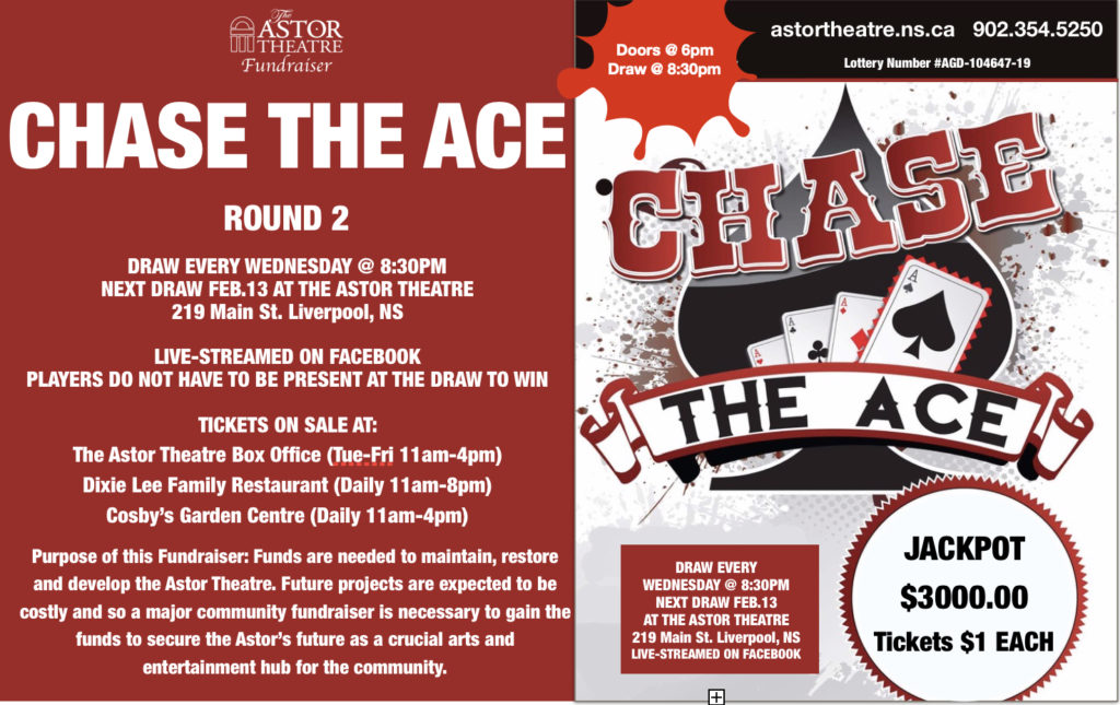 Chase The Ace Fundraiser @ Astor Theatre