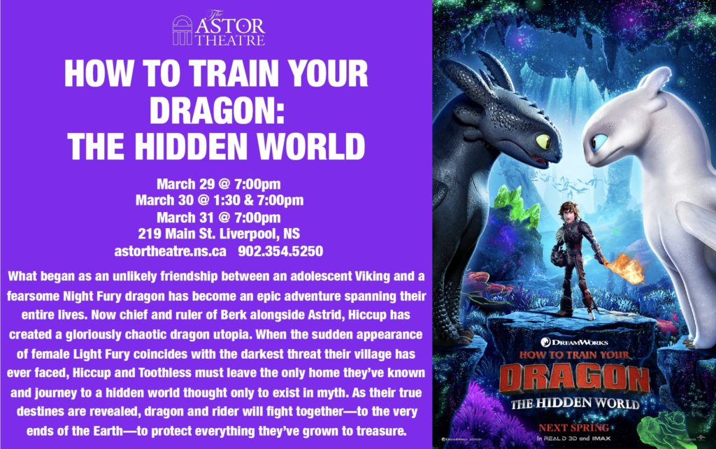How to Train Your Dragon - Mar.29@7pm, Mar.30@1:30&7pm, Mar.31@7pm @ Astor Theatre