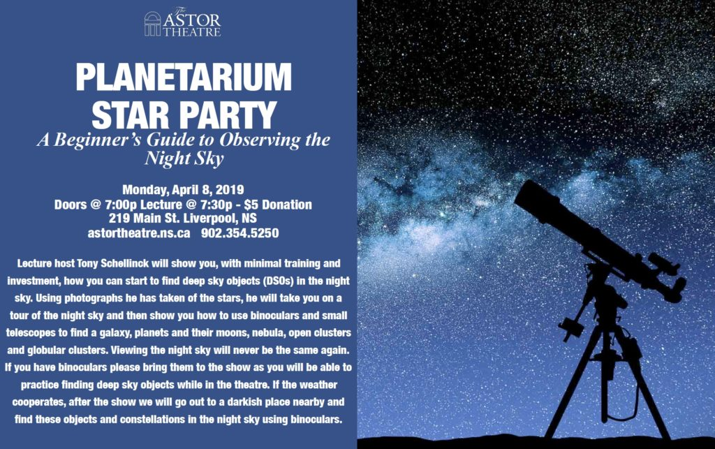 Planetarium Star Party - 7:30pm @ Astor Theatre