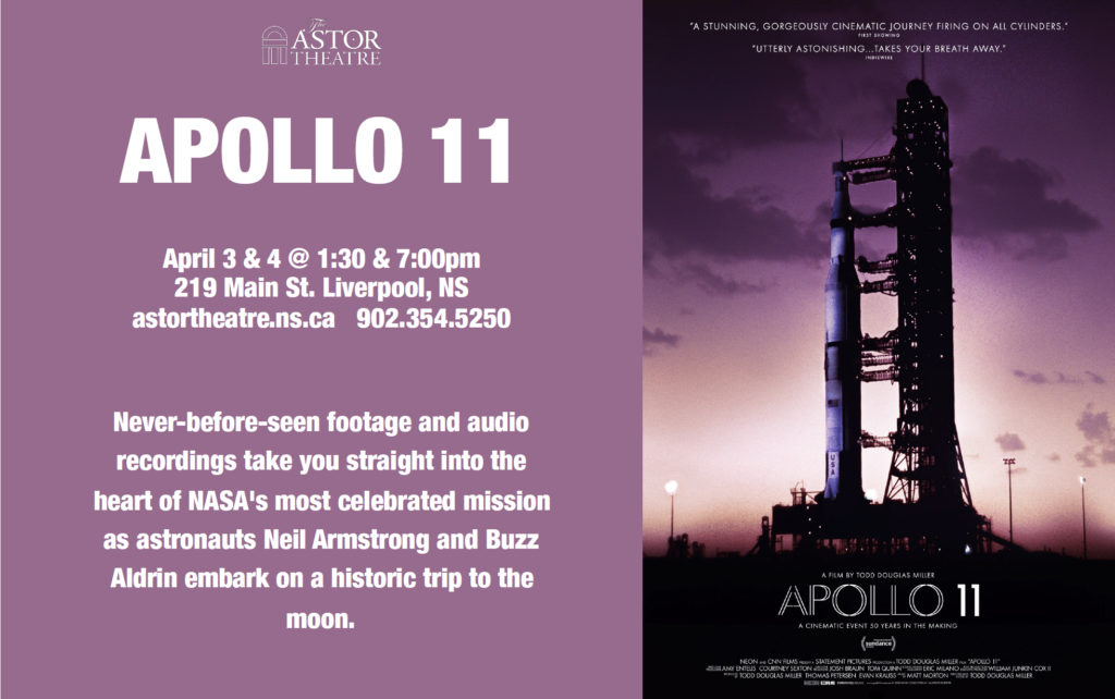 Apollo 11 - April 3 & 4 @ 1:30 & 7pm @ Astor Theatre
