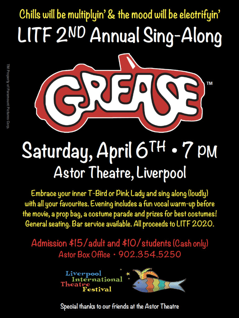 LITF 2nd Annual Sing-A-Long Movie: GREASE @ Astor Theatre