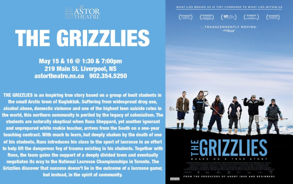 The Grizzlies - May 15 & 16 @ 1:30 & 7pm @ Astor Theatre
