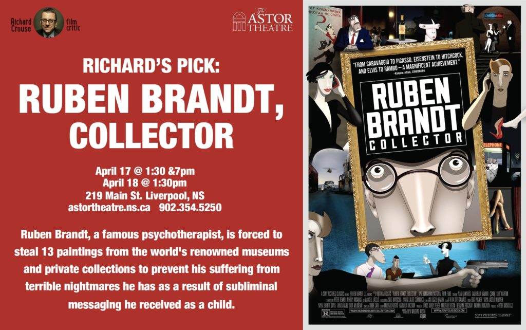 Ruben Brandt, Collector - Apr.17 @ 1:30 & 7pm, Apr.18 @ 1:30 @ Astor Theatre