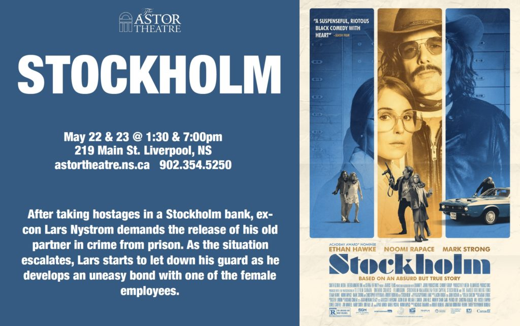 Stockholm - May 22 & 23 @ 1:30 & 7pm @ Astor Theatre
