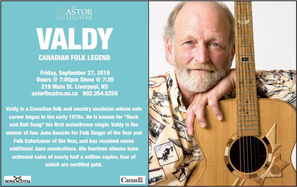 Valdy - Canadian Folk Legend @ Astor Theatre