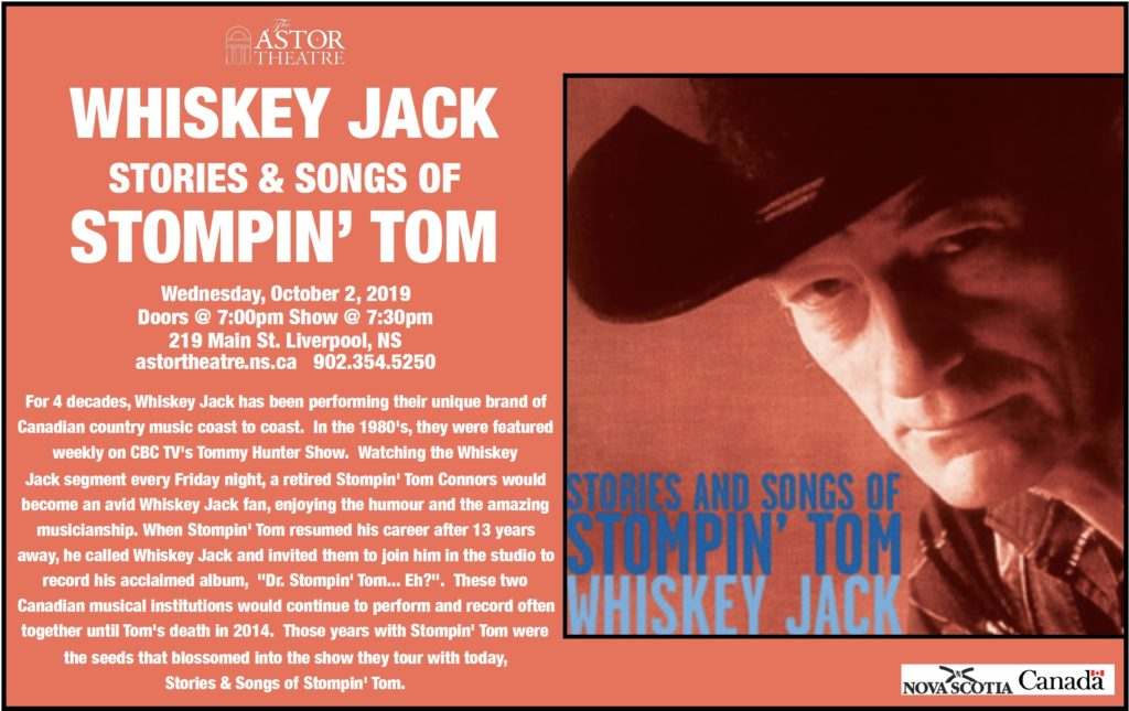 Whiskey Jack - Stories & Songs of Stompin' Tom @ Astor Theatre