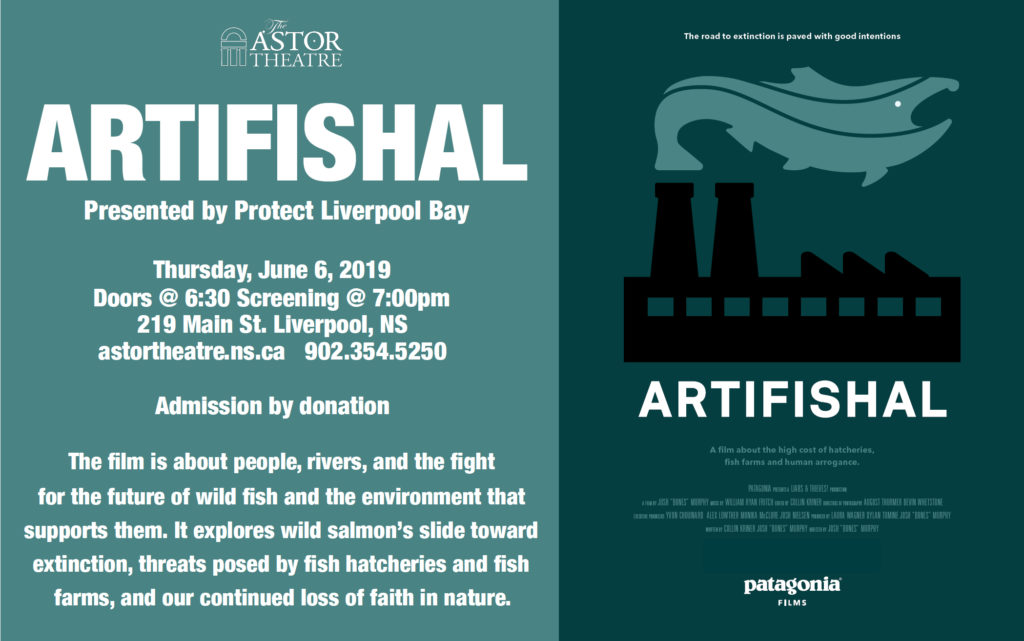 Artifishal - Presented by Protect Liverpool Bay - June 6 @ 7pm @ Astor Theatre