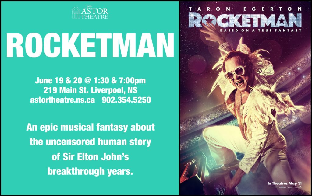 Rocketman - June 19 & 20 @ 1:30 & 7pm @ Astor Theatre