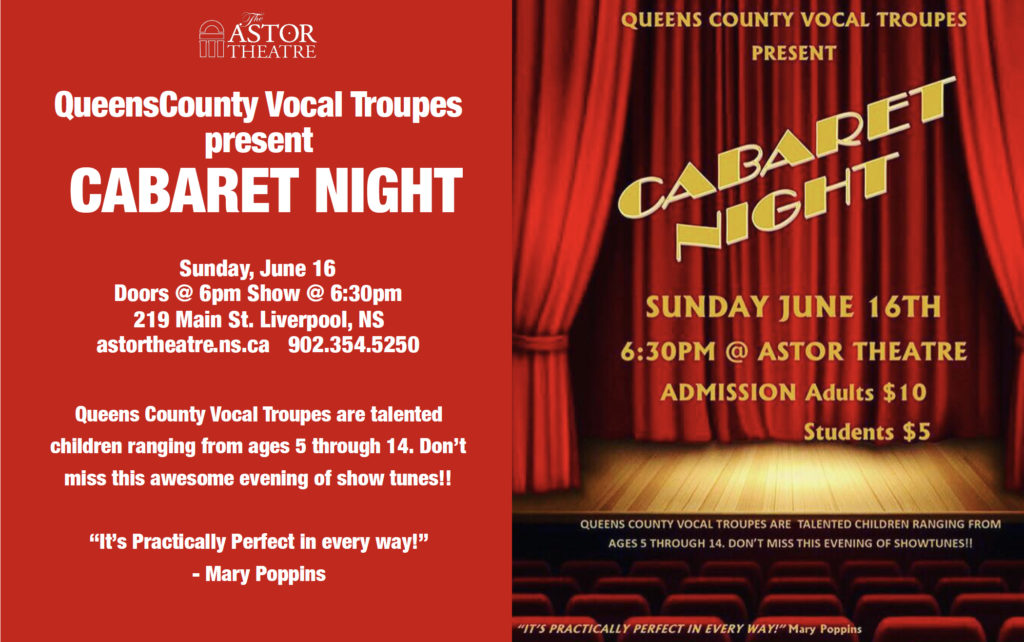 QC Vocal Troupes Present: Cabaret Night @ Astor Theatre