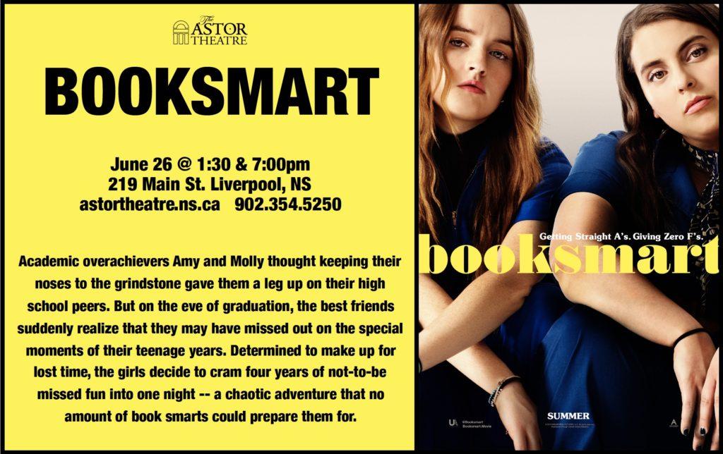 Booksmart - June 26 @ 1:30 & 7pm @ Astor Theatre