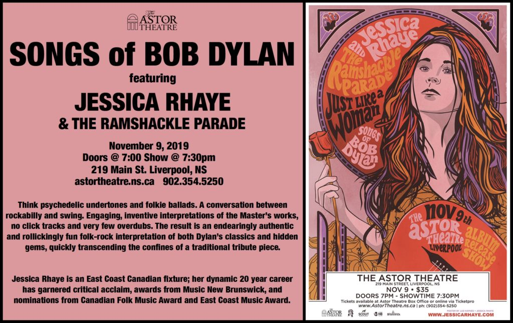 Songs of BOB DYLAN  feat. JESSICA RHAYE  & The Ramshackle Parade @ Astor Theatre