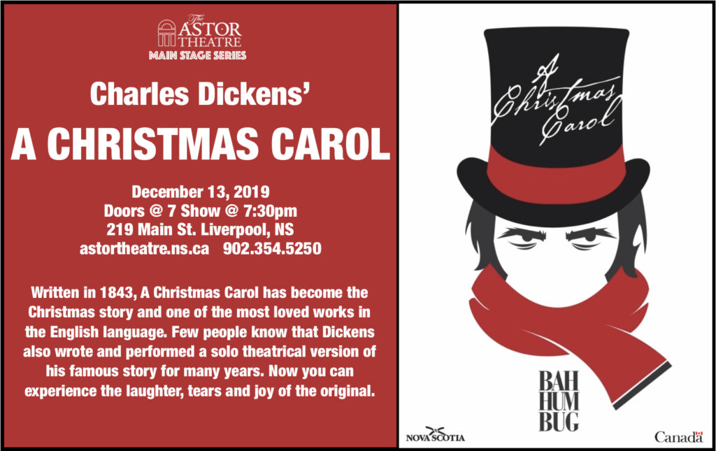 Charles Dickens' - A CHRISTMAS CAROL  (Main Stage Series) @ Astor Theatre