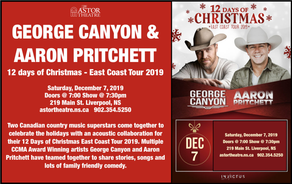 GEORGE CANYON & AARON PRITCHETT - 12 Days of Christmas @ Astor Theatre