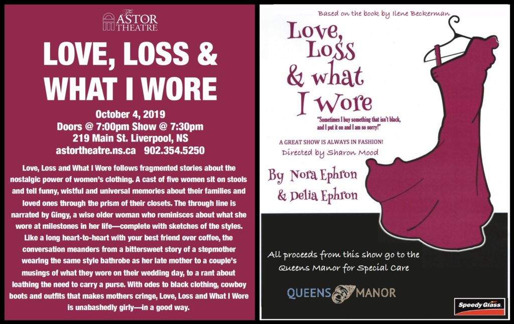 Love, Loss & What I Wore - Fundraiser for Queens Manor @ Astor Theatre