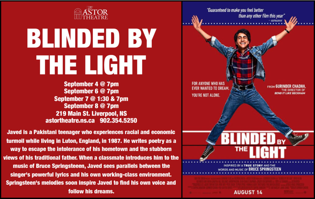 Blinded by the Light - Sept.6@7pm,Sept.8@7pm @ Astor Theatre