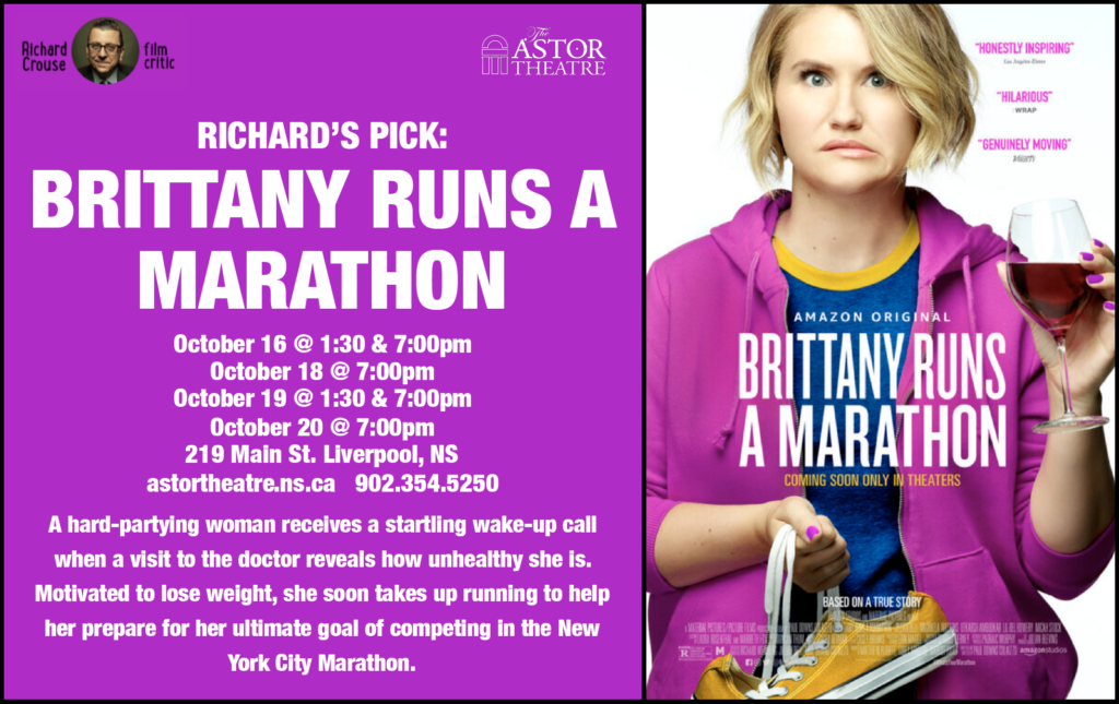 Brittany Runs A Marathon (Richard's Pick) Oct16@1:30&7p, Oct18@7p, Oct19@1:30 & 7p, Oct20@7p @ Astor Theatre