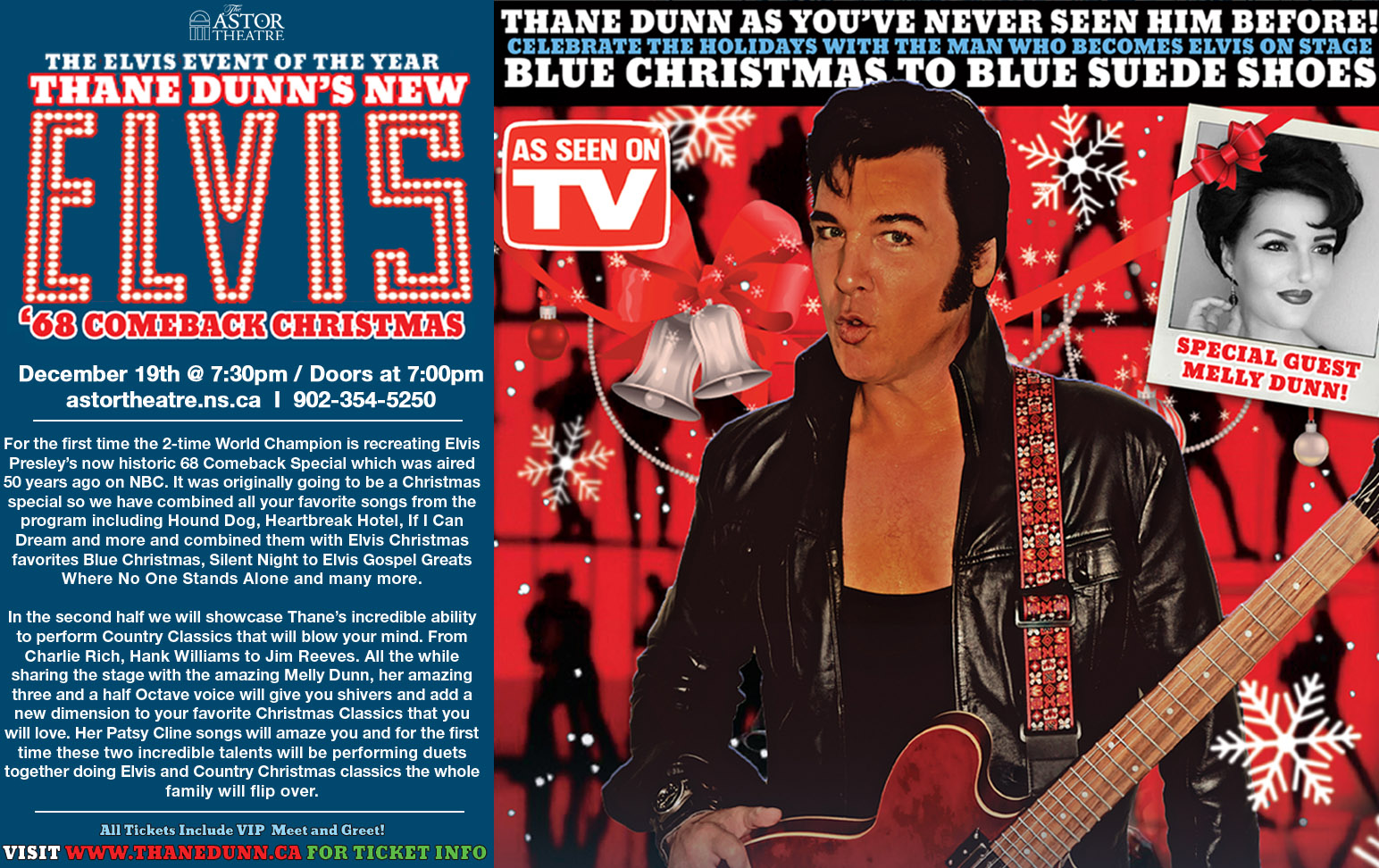 Thane Dunn's Elvis '68 Comeback Christmas @ Astor Theatre
