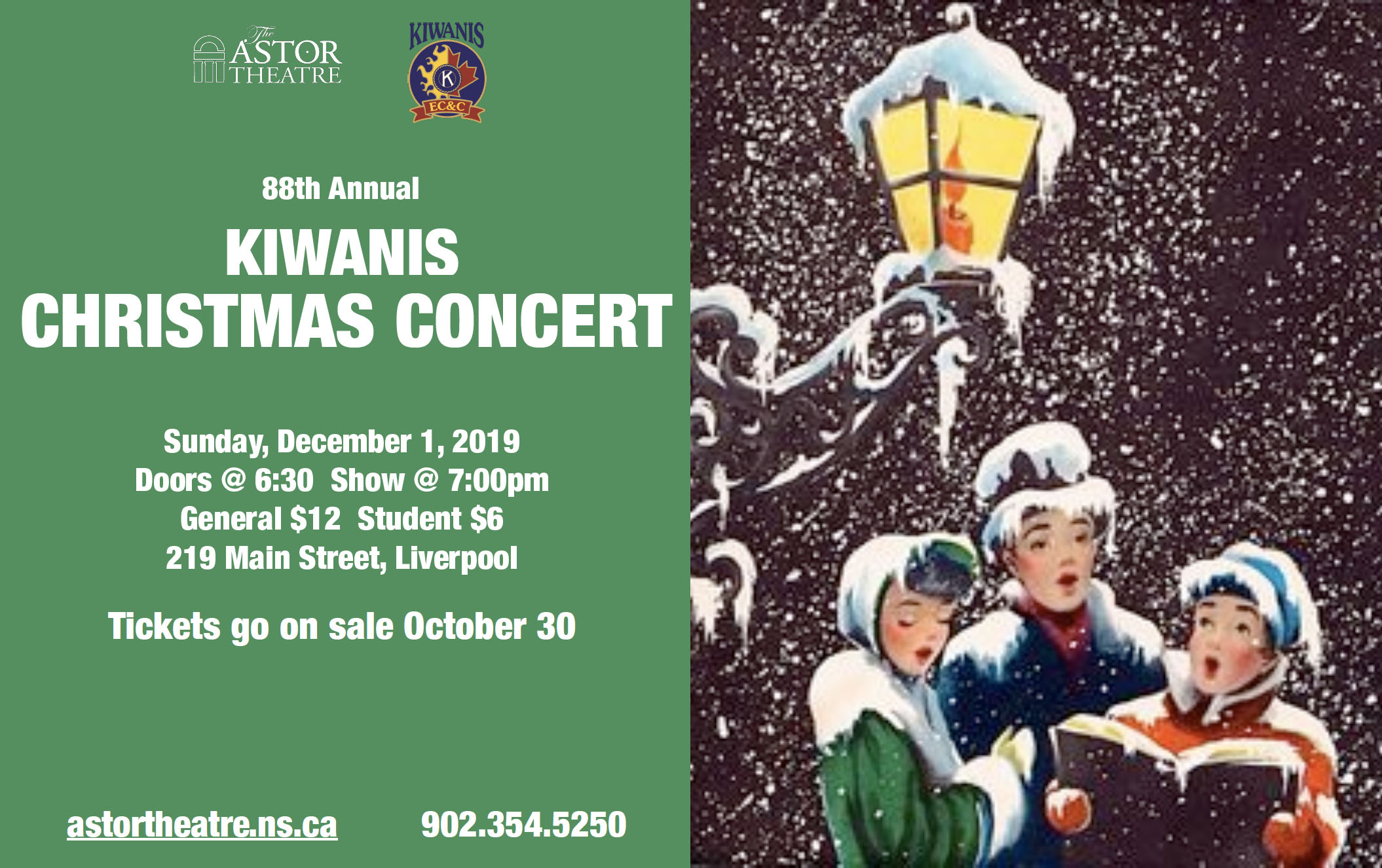 88th Annual Kiwanis Christmas Concert @ Astor Theatre