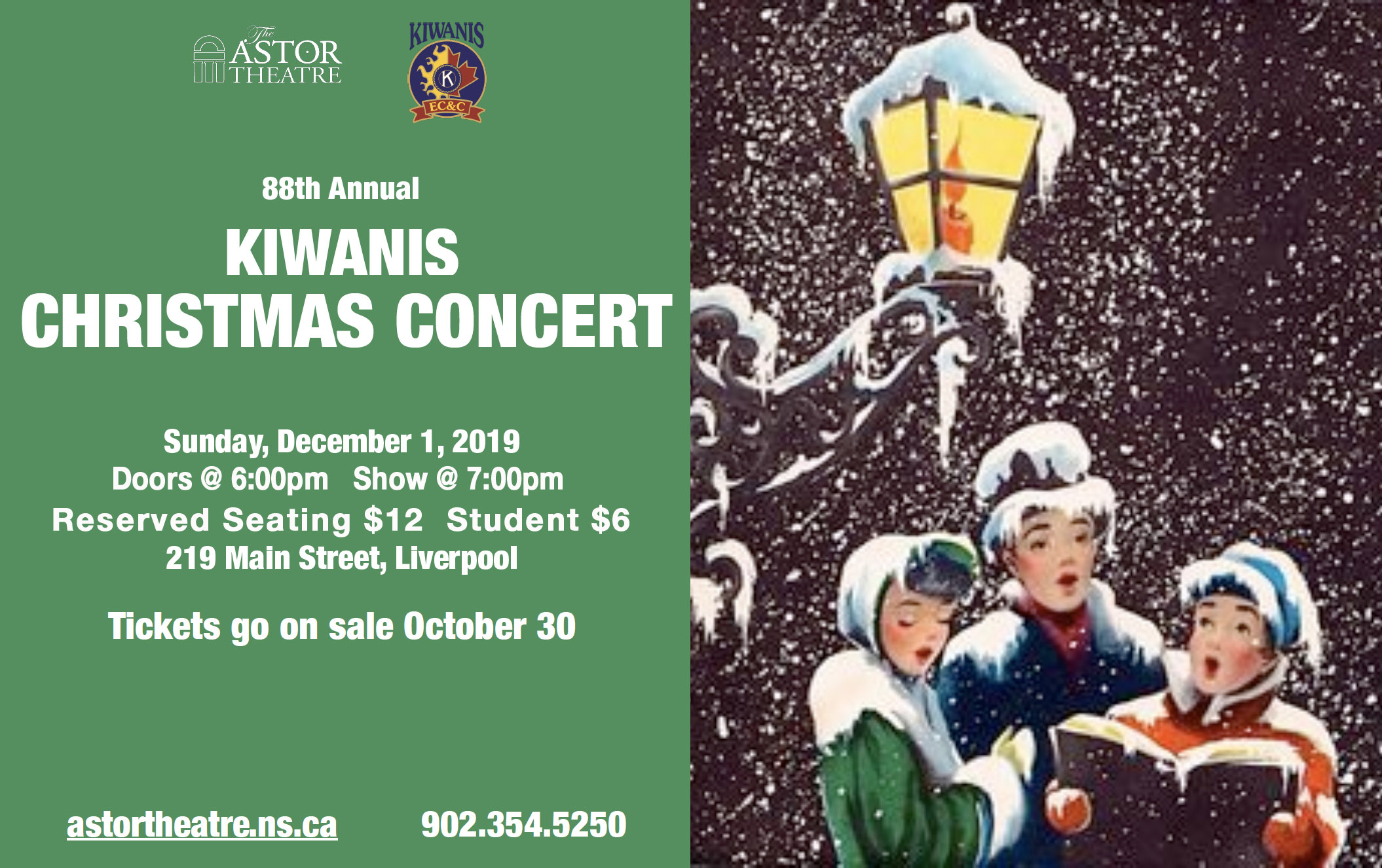 88th Annual Kiwanis Christmas Concert @ Astor Theatre