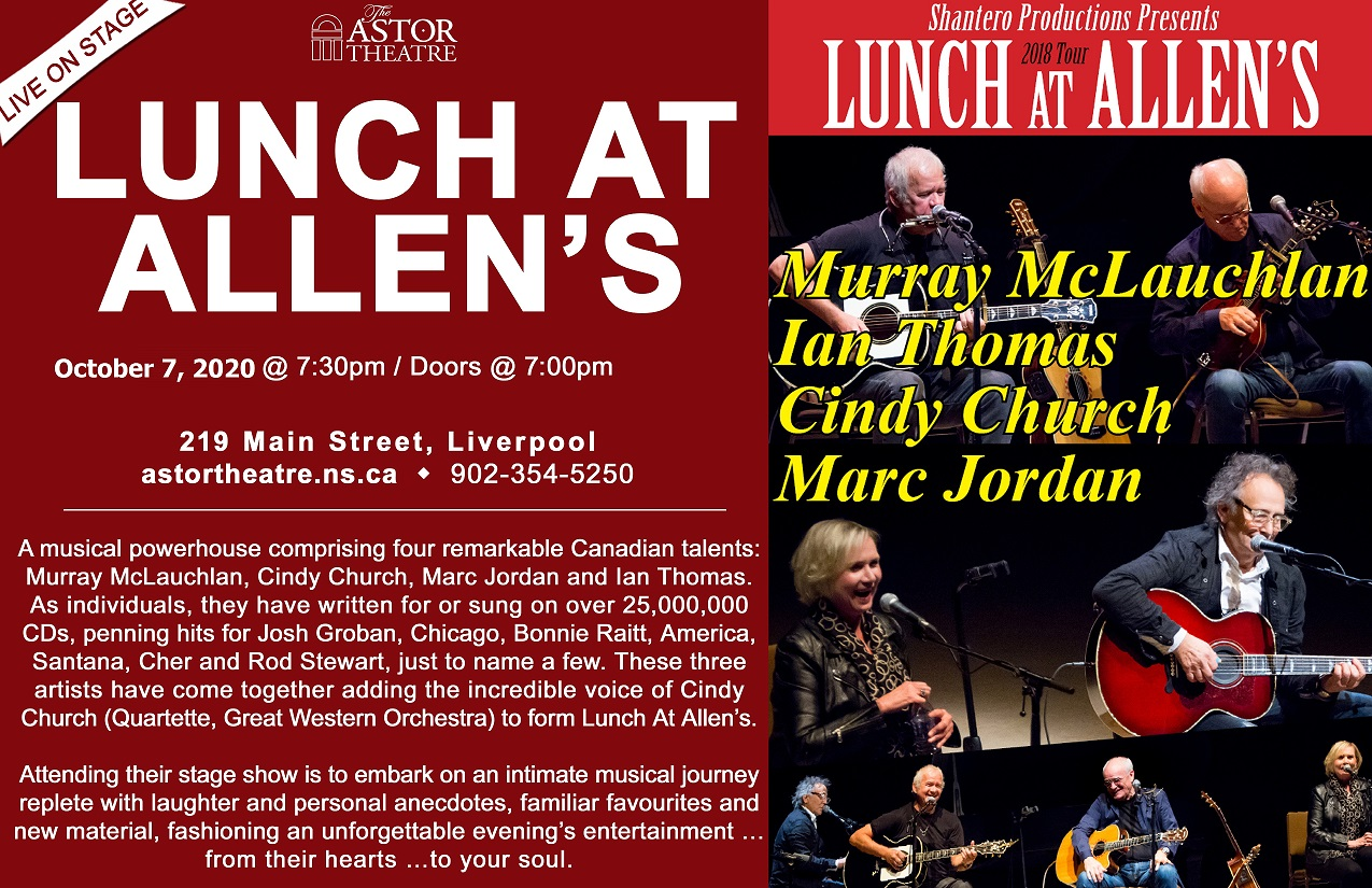 NEW DATE - Lunch at Allen's - October 26th, 2021 @ Astor Theatre