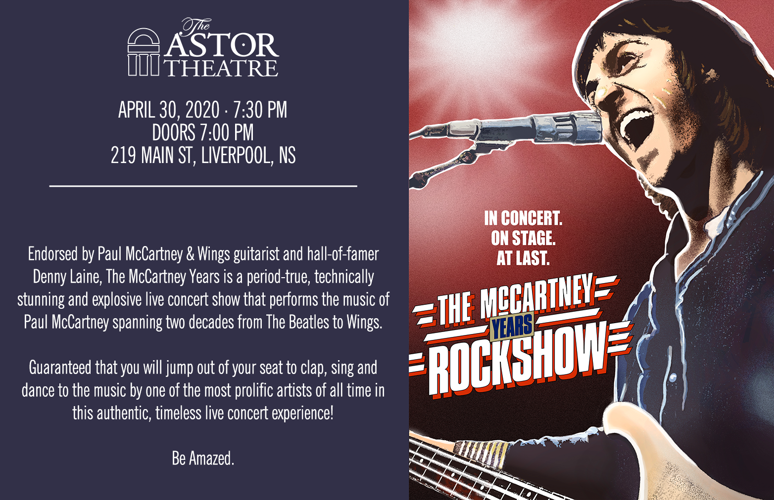 The McCartney Years @ Astor Theatre