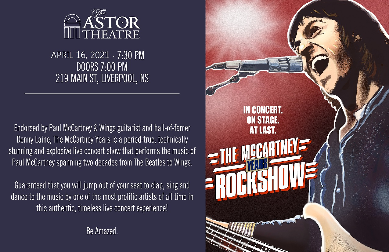 RESCHEDULED - The McCartney Years @ Astor Theatre