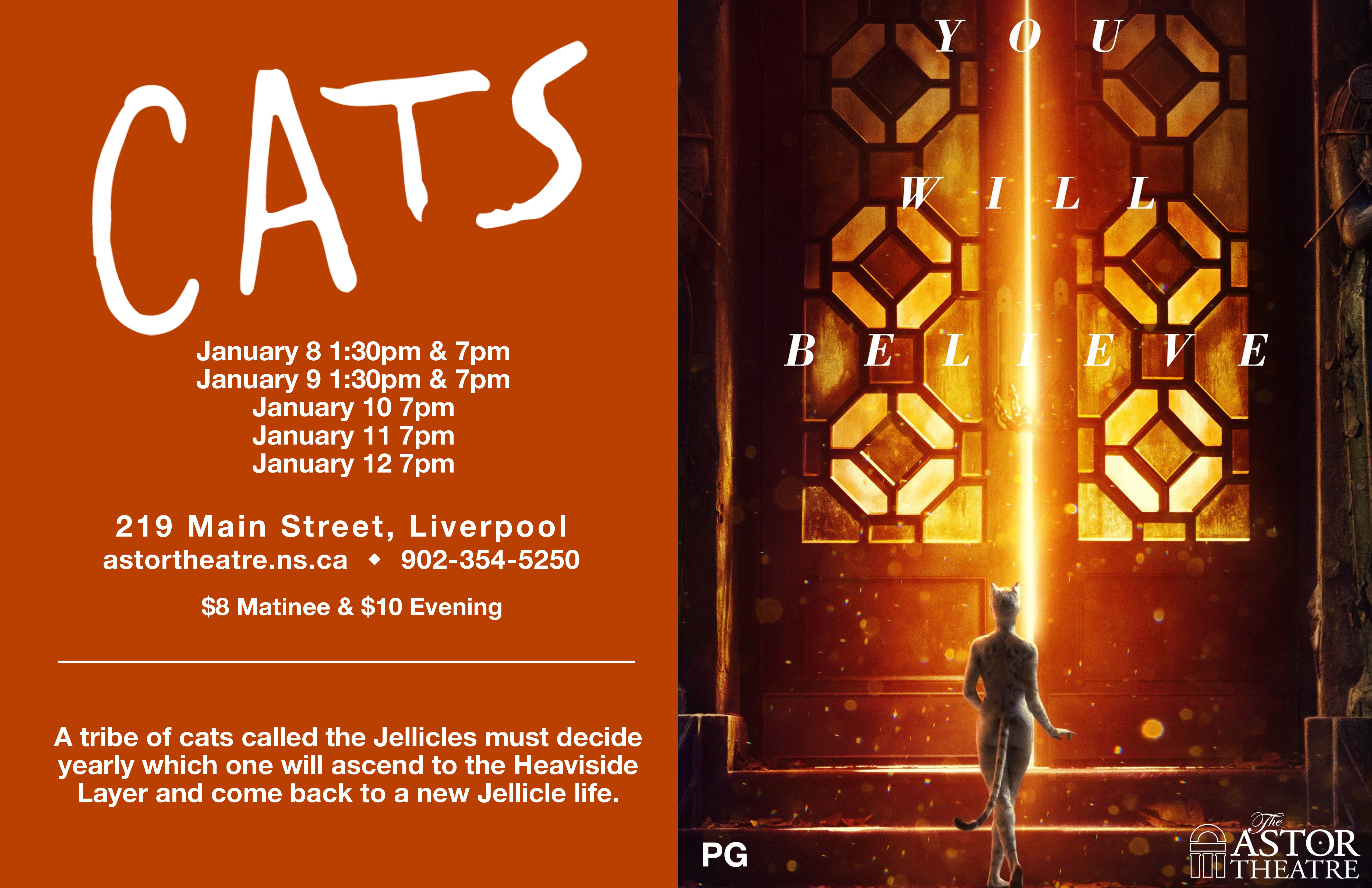 Cats   7pm @ Astor Theatre