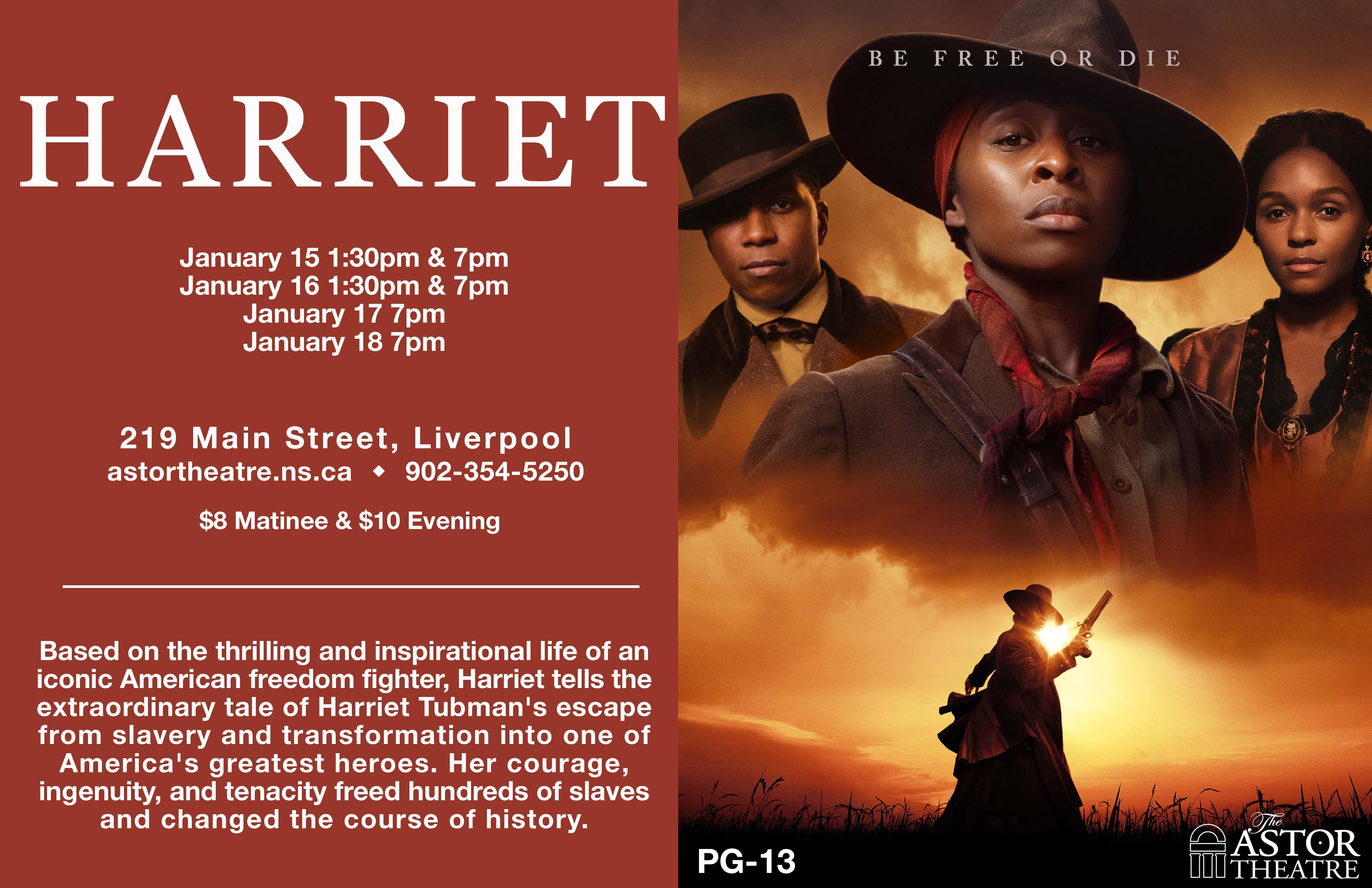 Harriet   7pm @ Astor Theatre