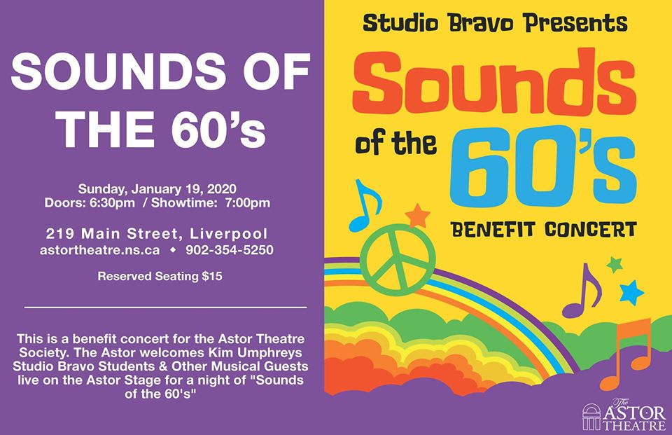 "Bravo Studio Presents ""Sounds of the 60's"" Benefit Concert @ Astor Theatre"