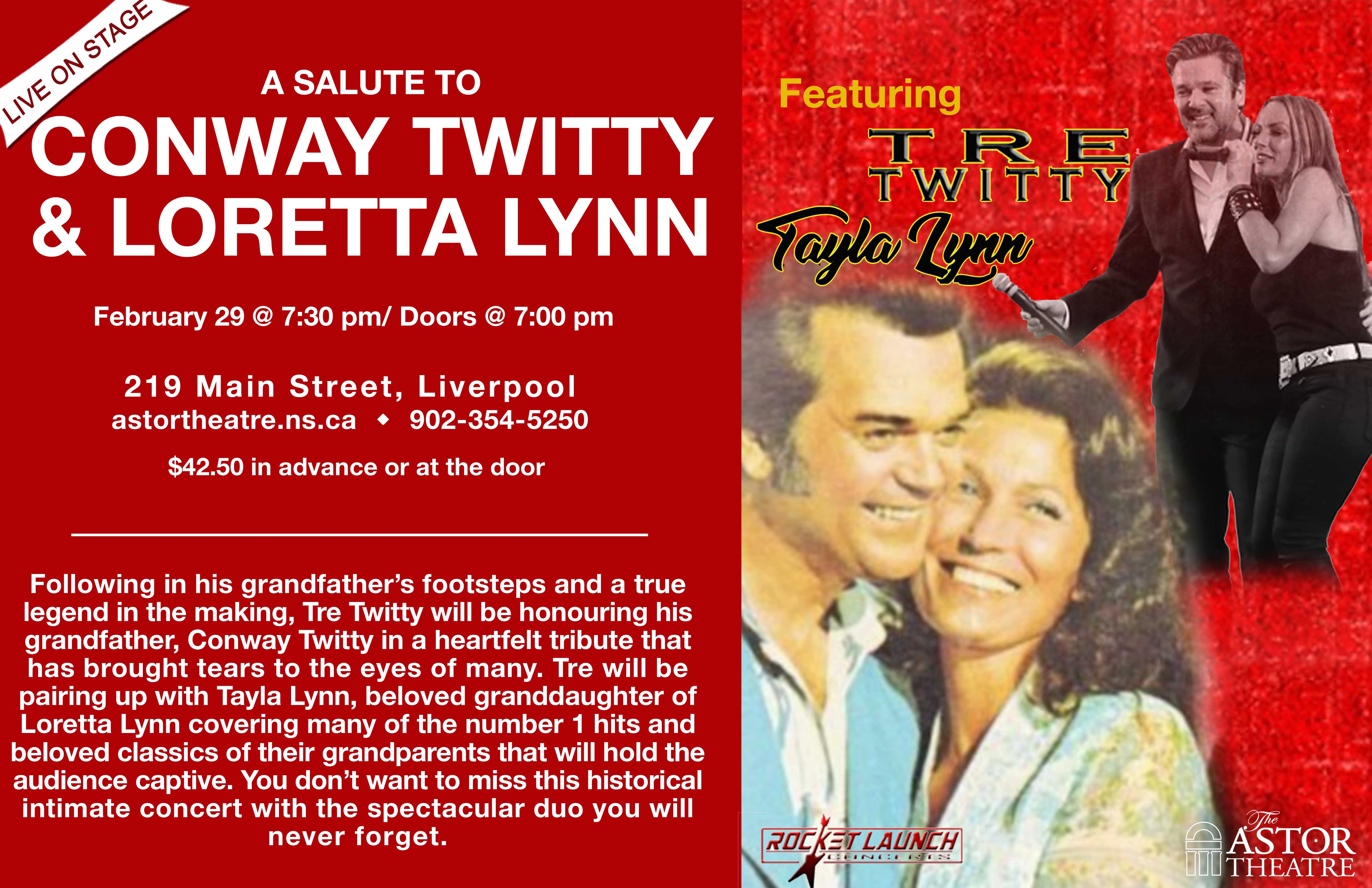 A Salute to Conway Twitty & Loretta Lynn @ Astor Theatre