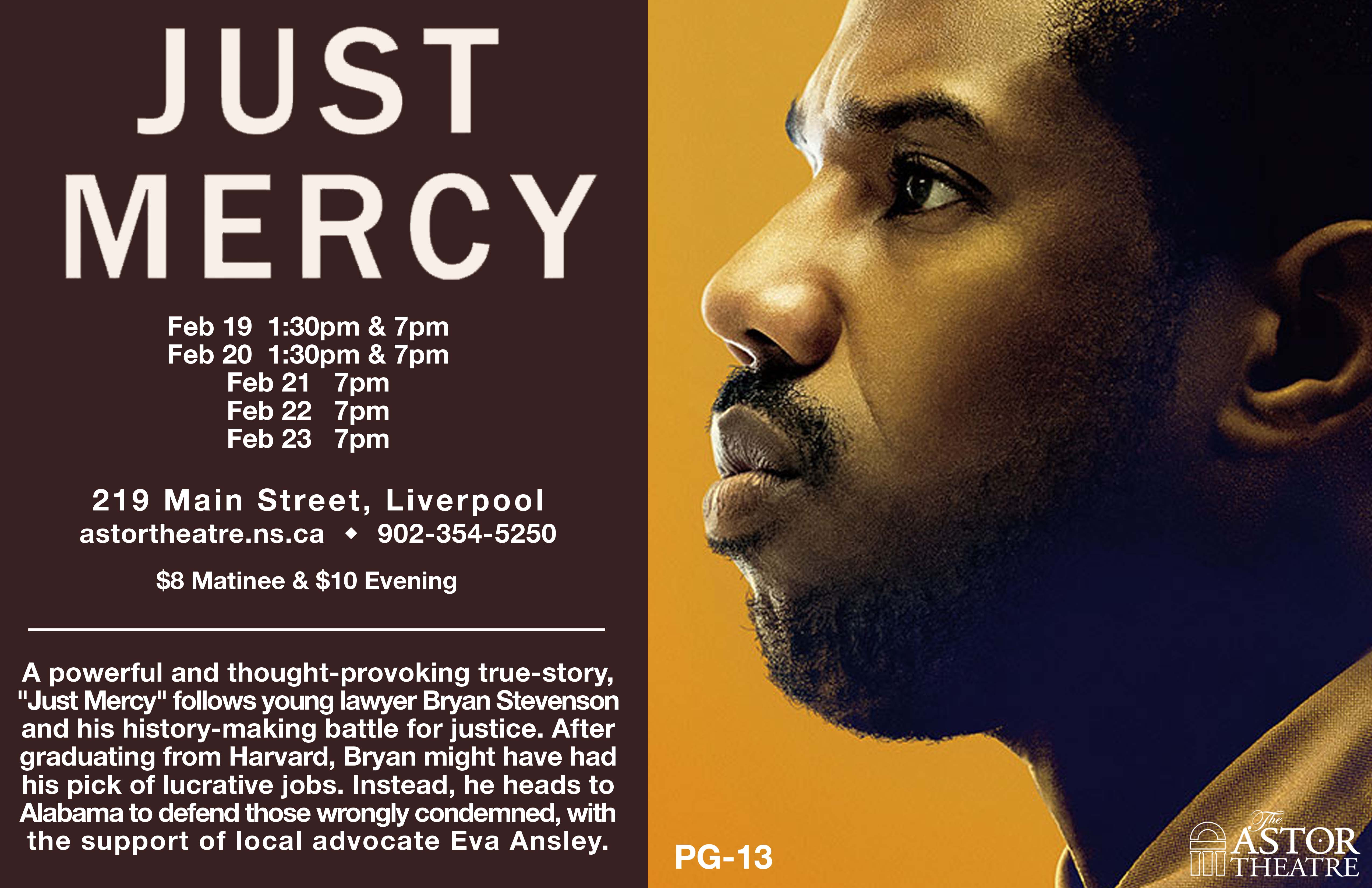 Just Mercy   7pm @ Astor Theatre