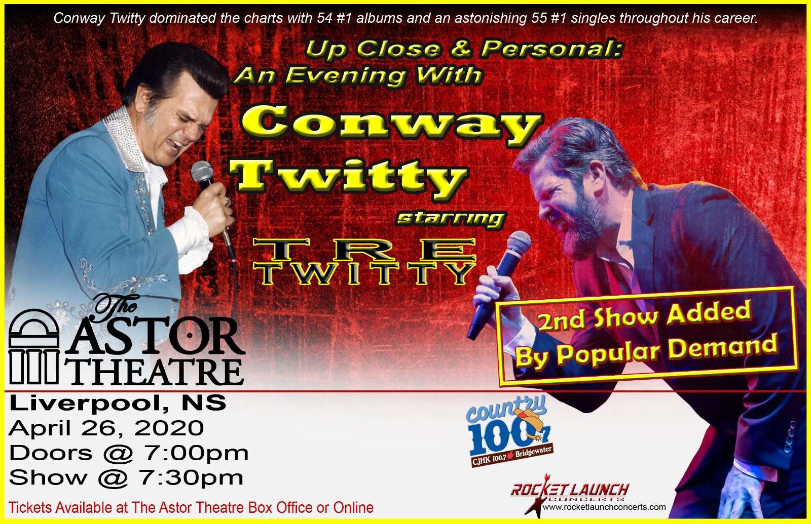 An Evening with Conway Twitty @ Astor Theatre