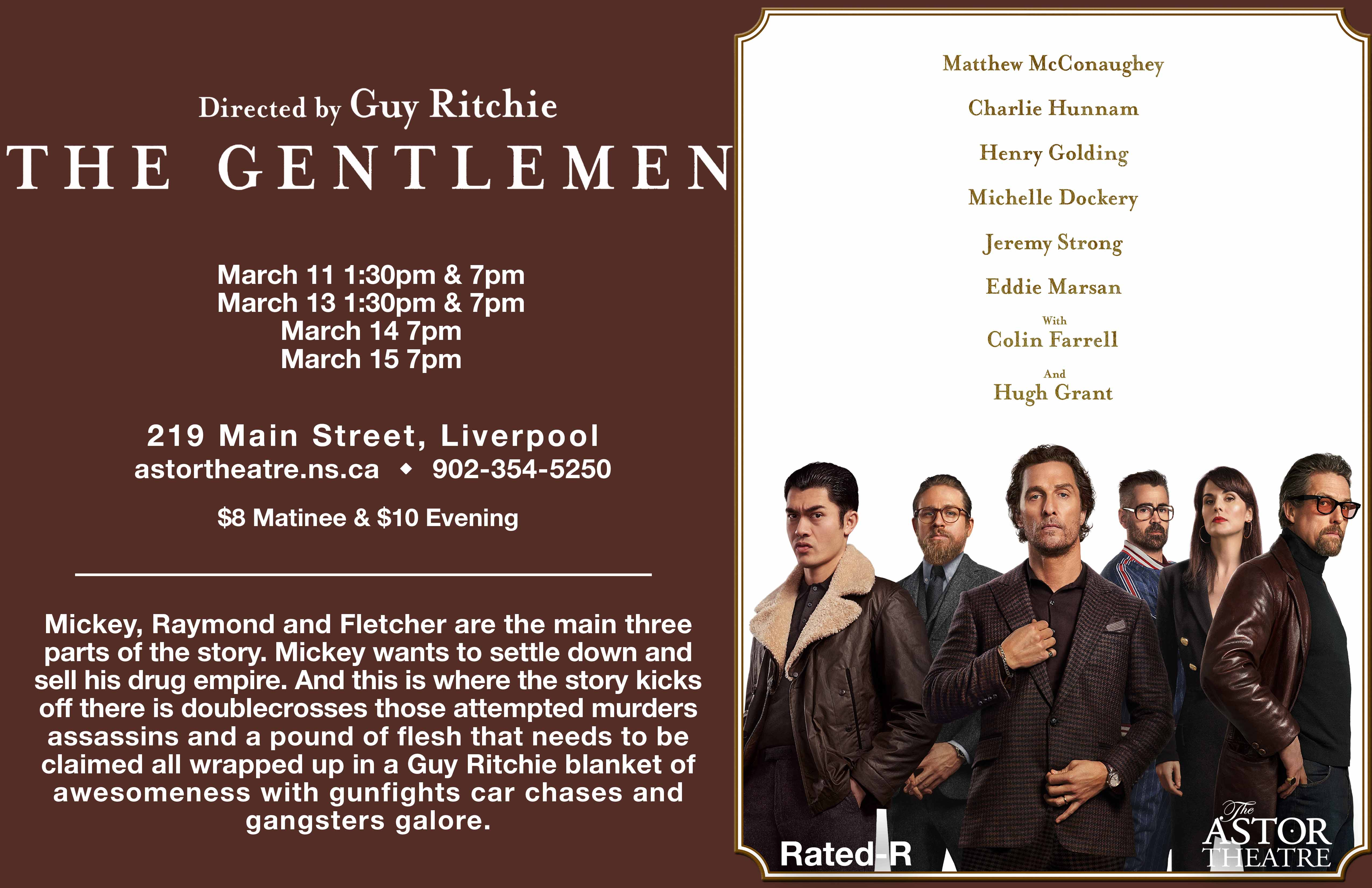 The Gentlemen 1:30pm & 7pm @ Astor Theatre