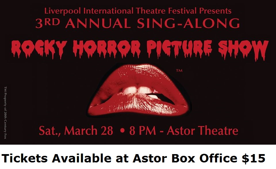 CANCELLED LITF 3rd Annual Sing A Long Rocky Horror Picture Show @ Astor Theatre