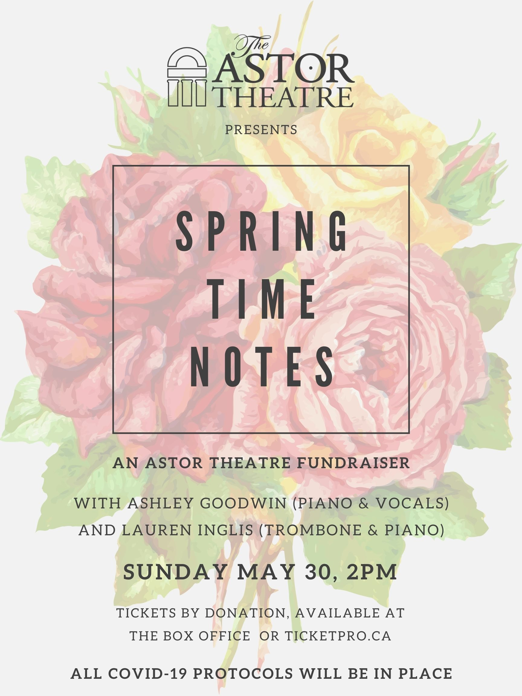 Springtime Notes - An Astor Theatre Fundraiser @ Astor Theatre