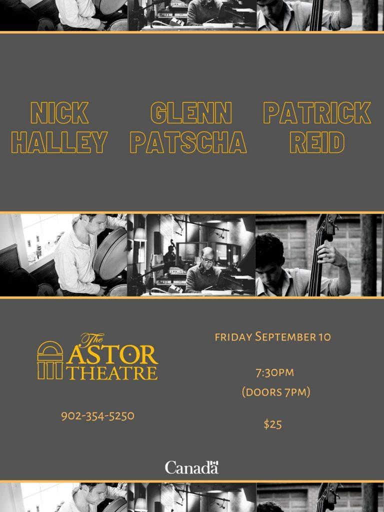 Nick Halley - Glenn Patscha - Patrick Reid trio performance @ Astor Theatre