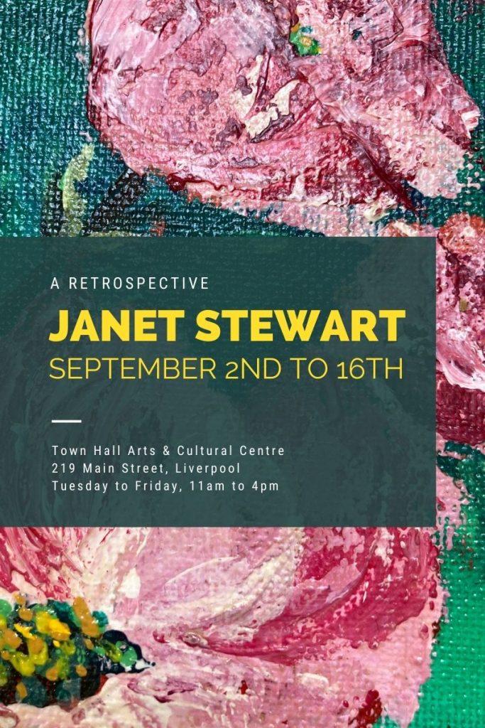 Art exhibition: Janet Stewart - a retrospective @ Town Hall Arts & Cultural Centre